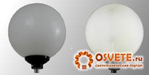 Уличный светильник Шар 400мм белый матовый